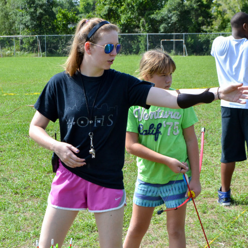 Archery Lessons at Rosen Jewish community center