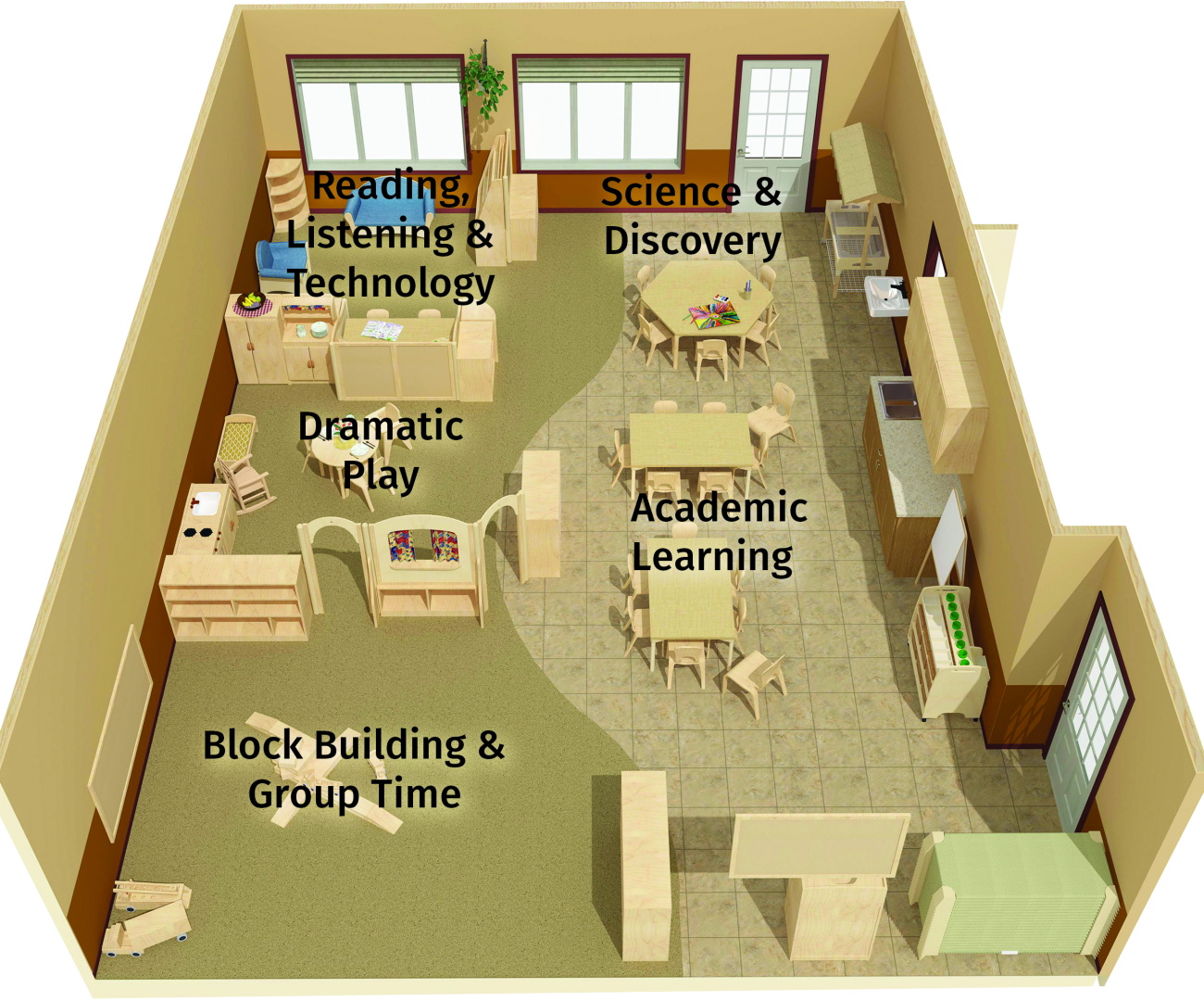 Classroom Layouts For Early Childhood ~ Early childhood preschool orlando rosen jcc