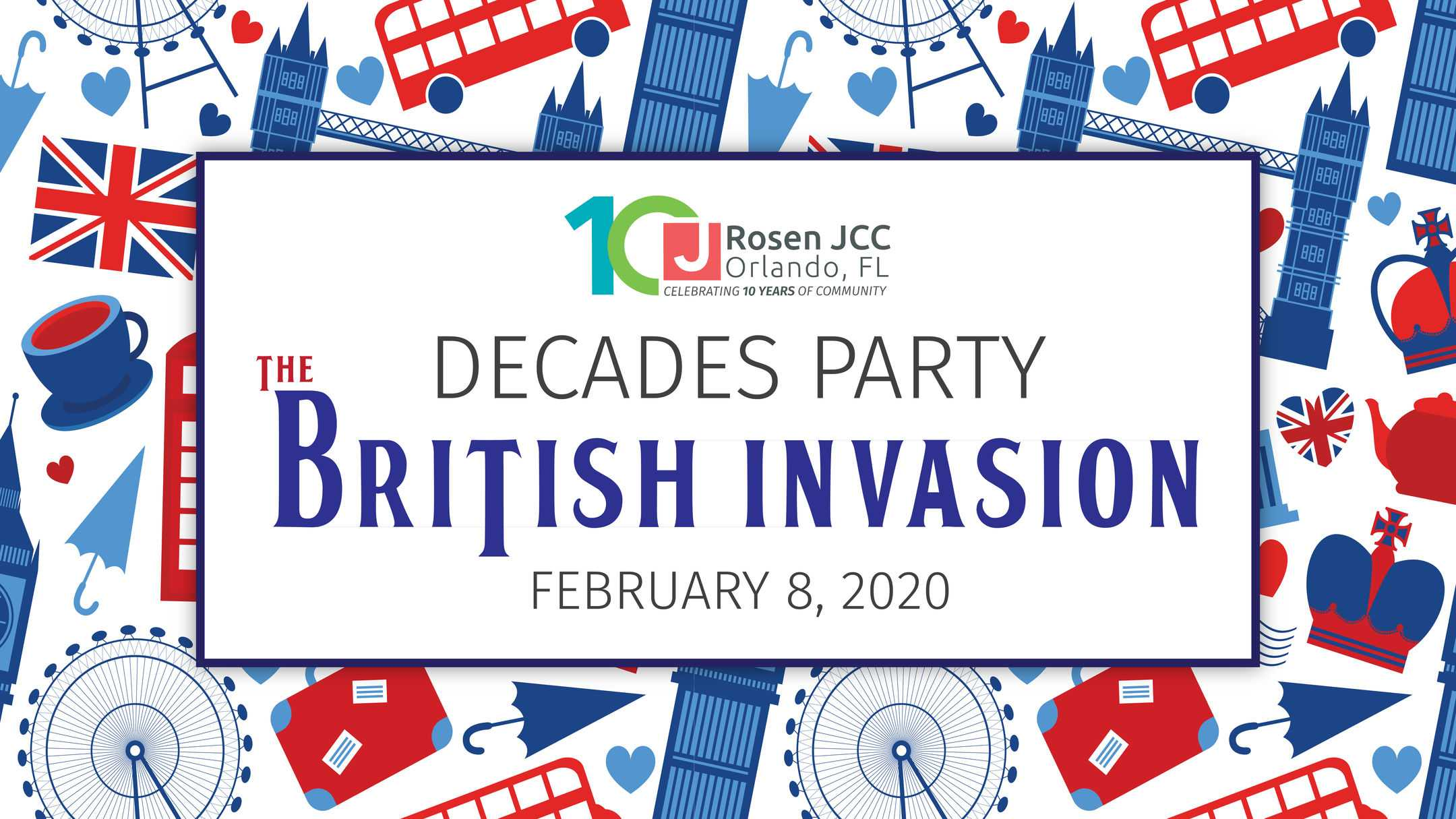 Decades Party - The British Invasion - February 8, 2020