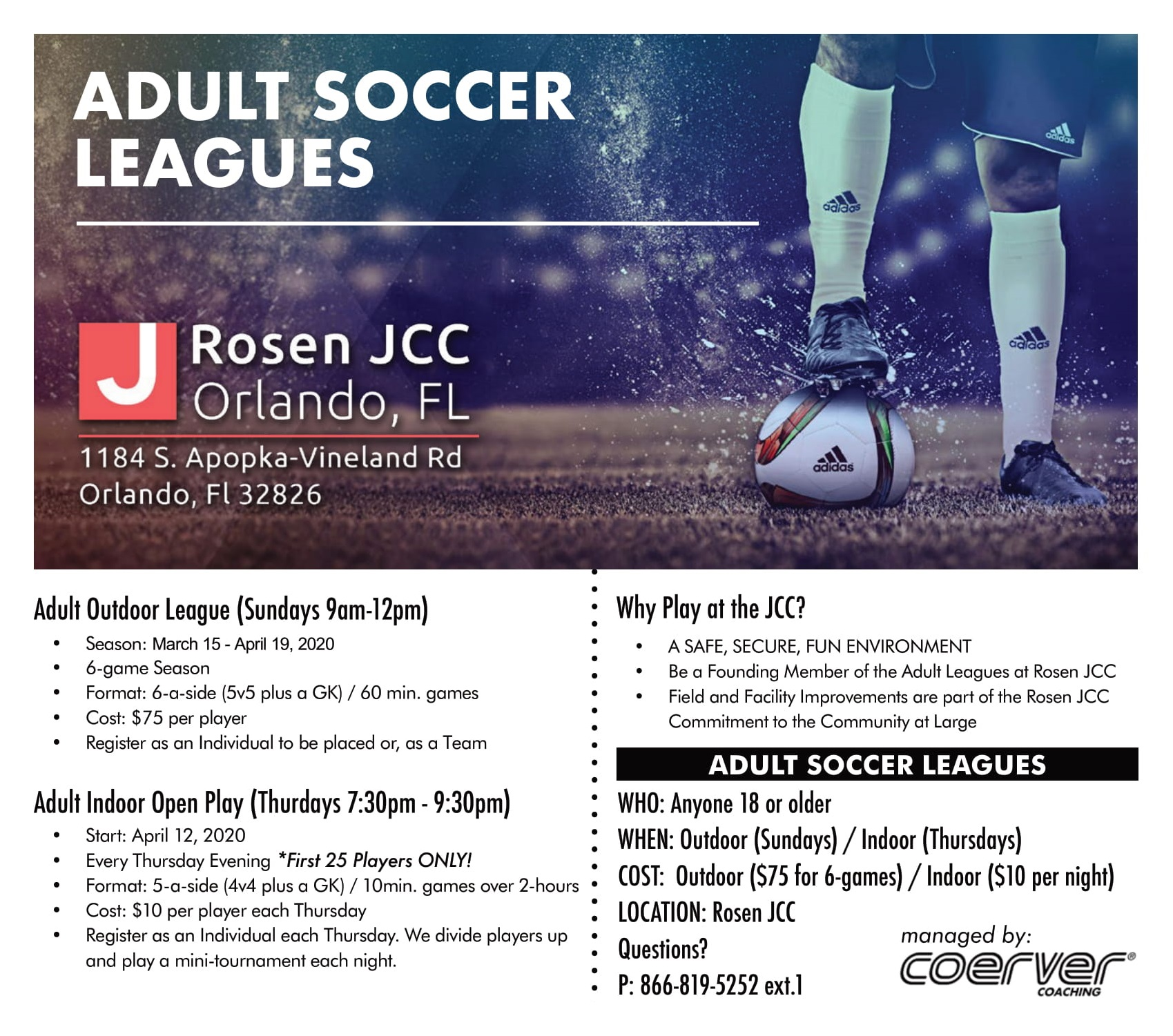 Adult Soccer Leagues