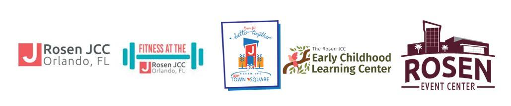 Rosen JCC logos for all areas
